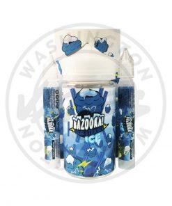 Bazooka Blue Raspberry Ice Sour Straws 100ml