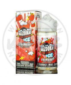Bazooka Strawberry Ice Sour Straws 100ml