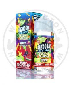 Bazooka Tropical Thunder Rainbow Sour Straws 100ml