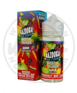 Bazooka Tropical Thunder Rainbow ice Sour Straws 100ml