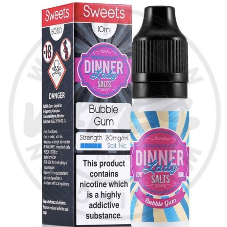 Dinner Lady Bubble Gum Salt Nic 10mg 10ml