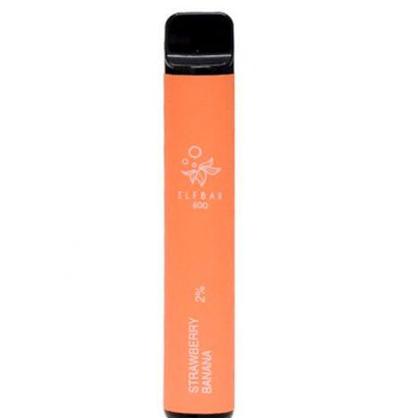 Elf Bar 600 Disposable Pod Strawberry Banana 2% Nicotine